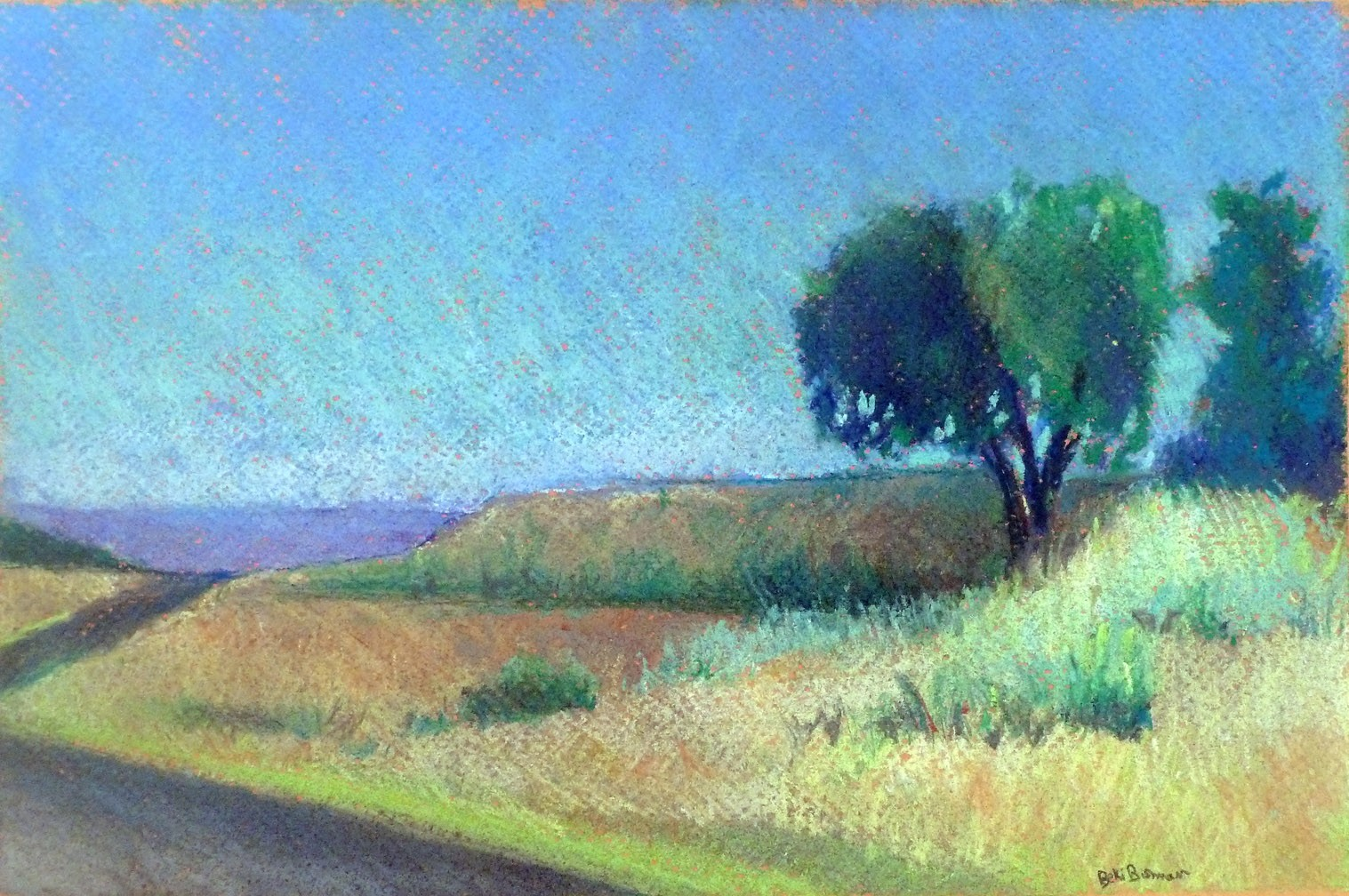 Down the Road- pastel
