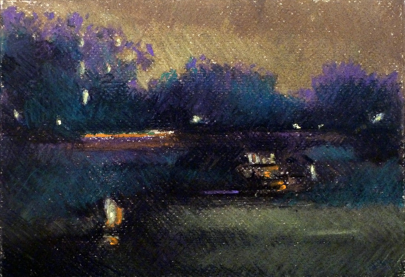 The Pond at Night